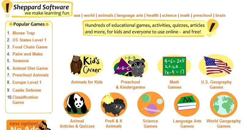 Sheppard Software Fun Free Online Learning Games And Activities